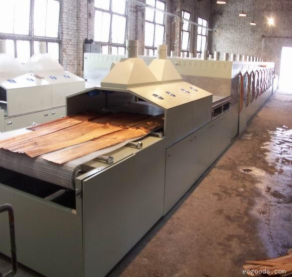 隧道式木材微波连续干燥机