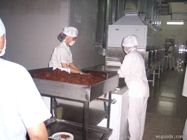 微波牛肉干干燥杀菌设备