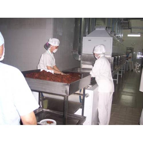 微波牛肉干干燥灭菌机