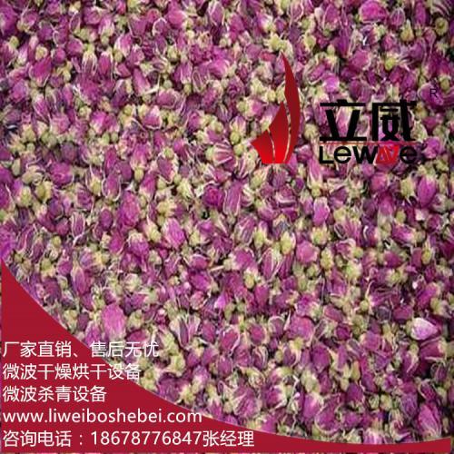 玫瑰花瓣微波烘干机固色、干燥快速且彻底